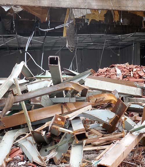 Schutt vom Abriss eines Gebäudes